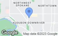 Map of Spokane, WA