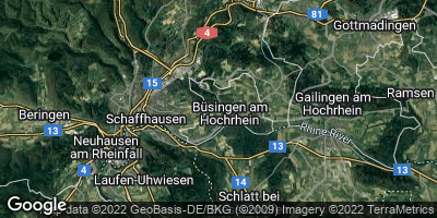 Google Map of Büsingen am Hochrhein