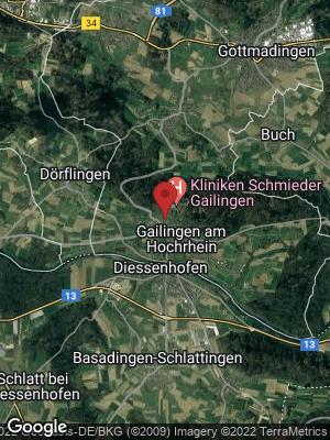 Google Map of Gailingen am Hochrhein