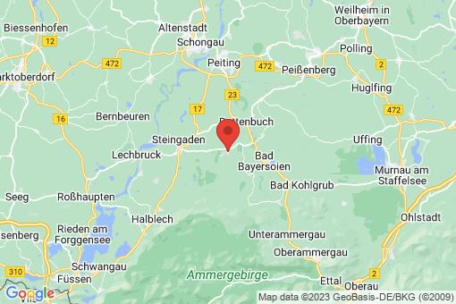 Karte Wildsteig