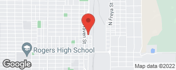 Map of 5101 N Market St in Spokane