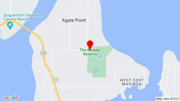 Google Map of 7571 NE Dolphin Dr, Bainbridge Island, WA 98110