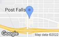 Map of Post Falls, ID