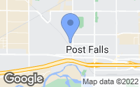 Map of Post Falls, ID