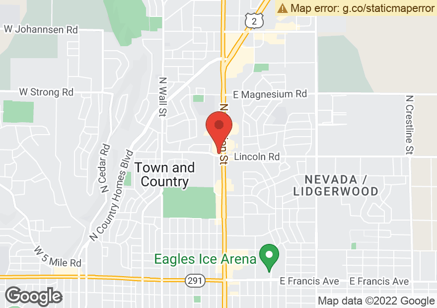 Google Map of 7905 N DIVISION ST