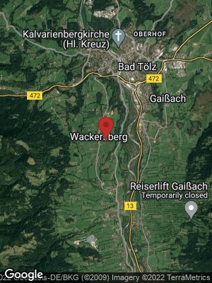 Google Map of Wackersberg bei Bad Tölz