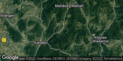 Google Map of Malsburg-Marzell