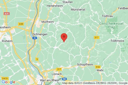 Karte Malsburg-Marzell