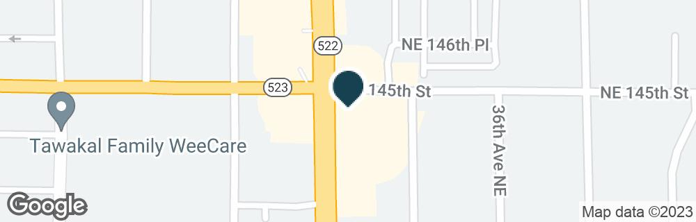 Google Map of14352 LAKE CITY WAY NE