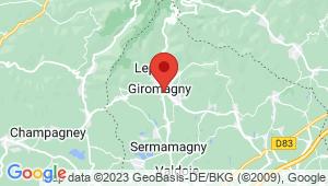 Carte de localisation du centre de contrôle technique GIROMAGNY