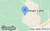 Map of Newman Lake, WA