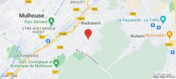Voir le plan d'accès vers le Centre Odyssée à Mulhouse, Haut Rhin, 68