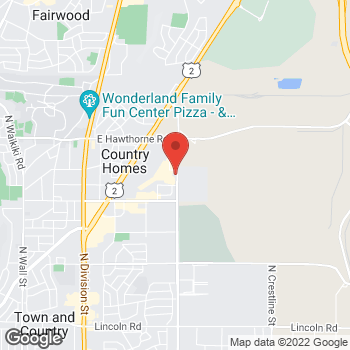 Map of Lauren Z Chao, DMD at 9717 N Nevada, Spokane, WA 99218