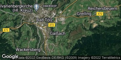 Google Map of Gaißach