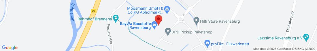 BayWa Baustoffe Ravensburg Anfahrt