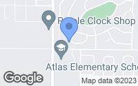 Map of Hayden, ID