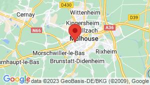 Carte de localisation du centre de contrôle technique MULHOUSE