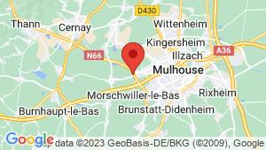 Carte de localisation du centre de contrôle technique LUTTERBACH