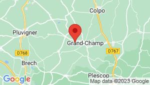 Carte de localisation du centre de contrôle technique GRAND CHAMP