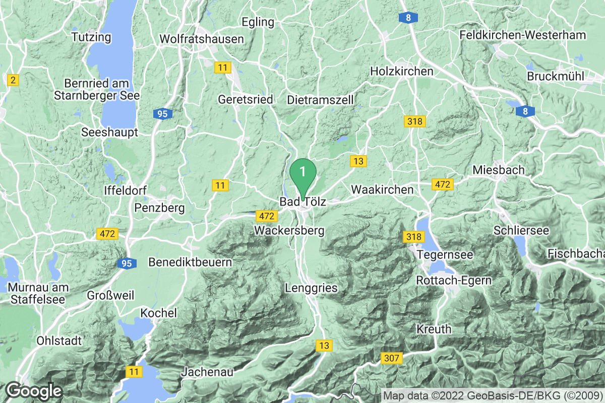 Google Map of Bad Tölz