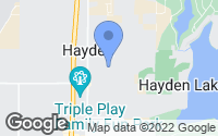 Map of Hayden, ID