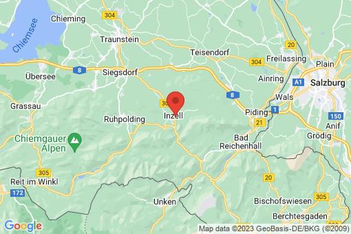 Karte Inzell