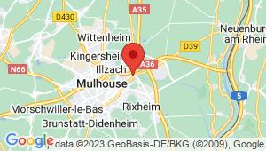Carte de localisation du centre de contrôle technique ILLZACH