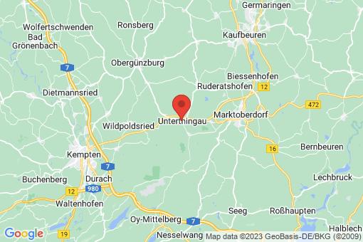 Karte Unterthingau