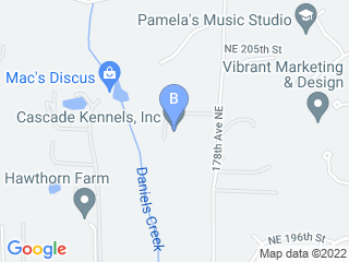 Map of Cascade Kennels Inc. Dog Boarding options in Woodinville | Boarding