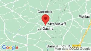 Carte de localisation du centre de contrôle technique LA GACILLY