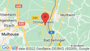 Carte de localisation du centre de contrôle technique OTTMARSHEIM