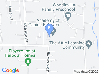 Map of Academy of Canine Behavior Dog Boarding options in Bothell | Boarding