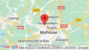 Carte de localisation du centre de contrôle technique KINGERSHEIM