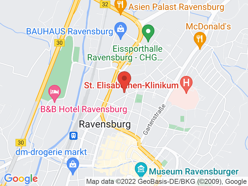Map of kup. Ravensburg