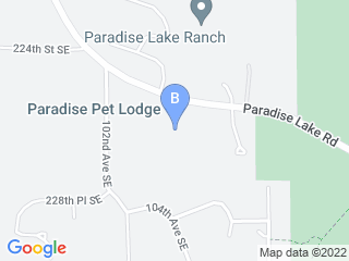 Map of Paradise Pet Lodge Dog Boarding options in Woodinville | Boarding