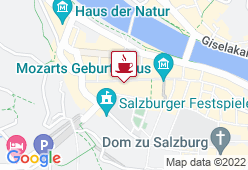 Café Getreidegasse - Karte