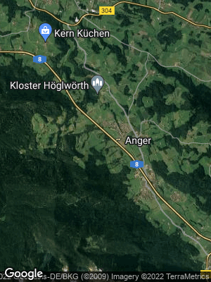 Google Map of Anger bei Bad Reichenhall