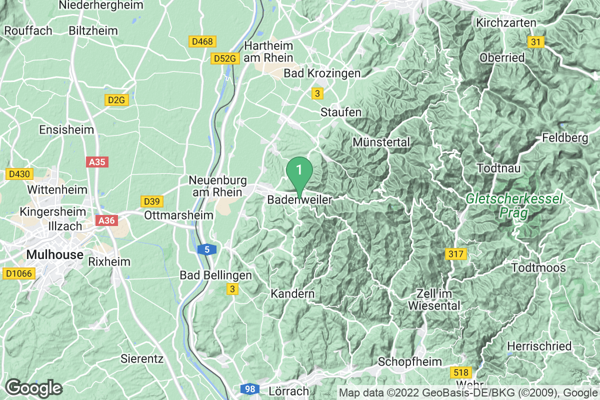Google Map of Badenweiler