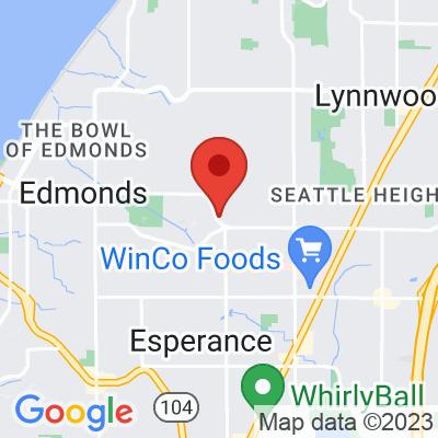 Map showing Edmonds Caffe Ladro