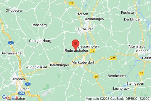 Karte Ruderatshofen