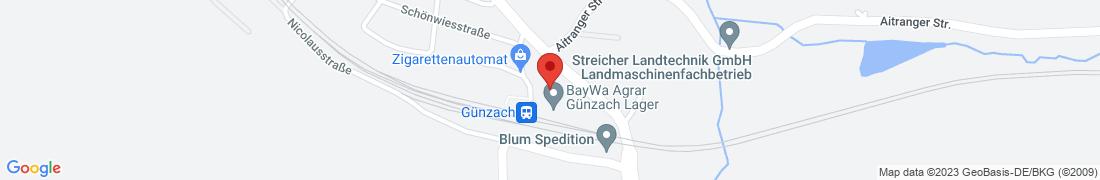 BayWa Agrar Günzach Außenlager Anfahrt
