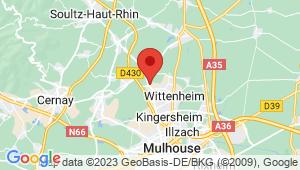 Carte de localisation du centre de contrôle technique WITTENHEIM