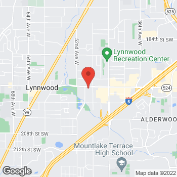 Map of Arby's at 4910 196th St SW, Lynnwood, WA 98036