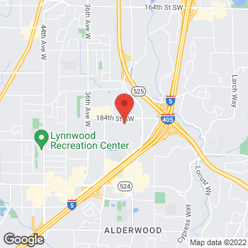 Map of Panera Bread at 3000 184th Street SW, Lynnwood, WA 98037