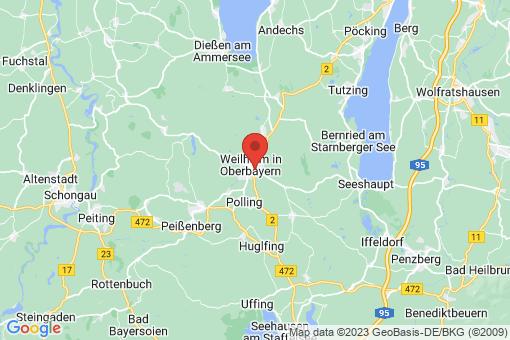 Karte Weilheim in Oberbayern