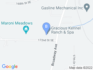 Map of Gracious Kennels Ranch & Spa Dog Boarding options in Snohomish | Boarding