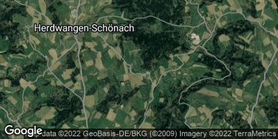 Google Map of Herdwangen-Schönach