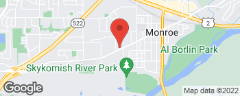 Map of 809 W Main St in Monroe