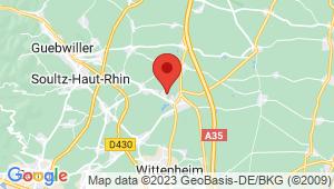 Carte de localisation du centre de contrôle technique ENSISHEIM