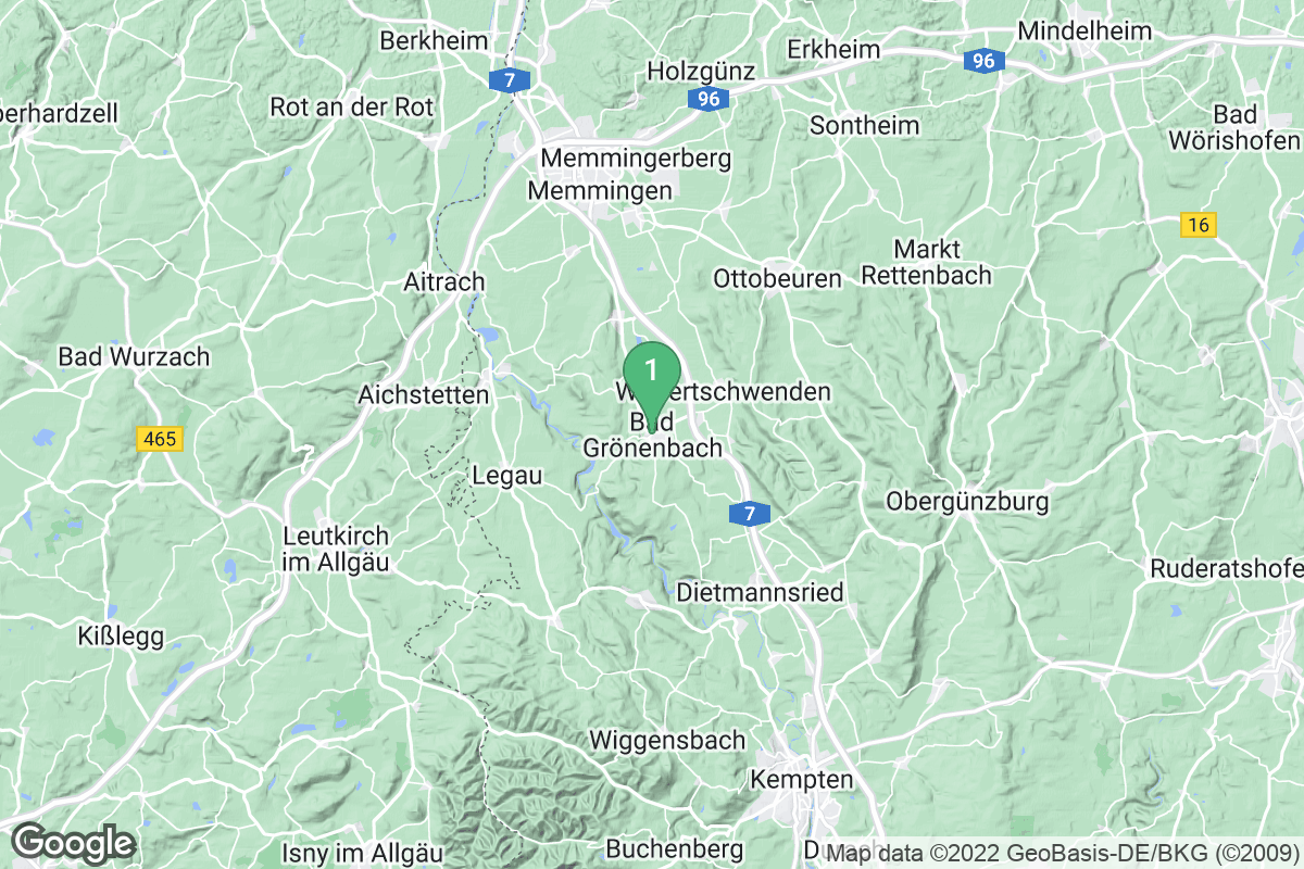 Google Map of Bad Grönenbach